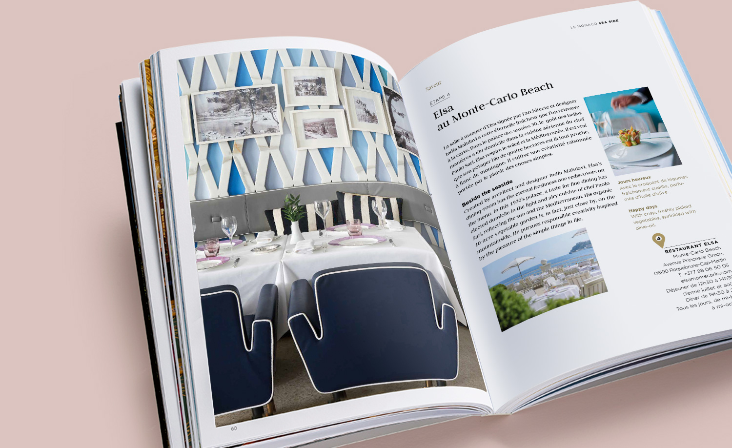 Design graphique City guide Monte-Carlo SBM